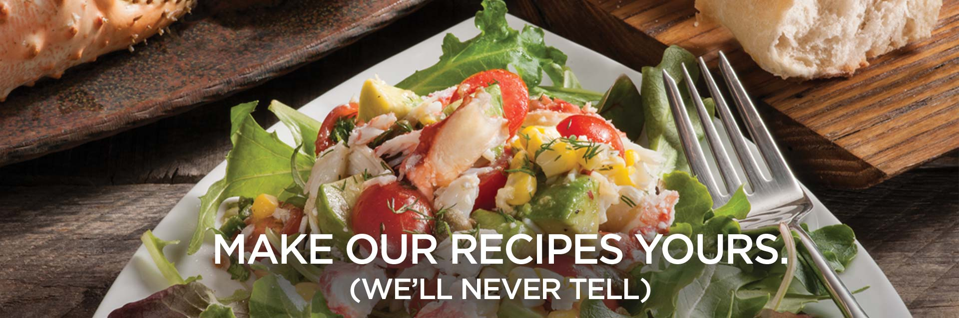 Make your recipes ours. (We'll never tell)