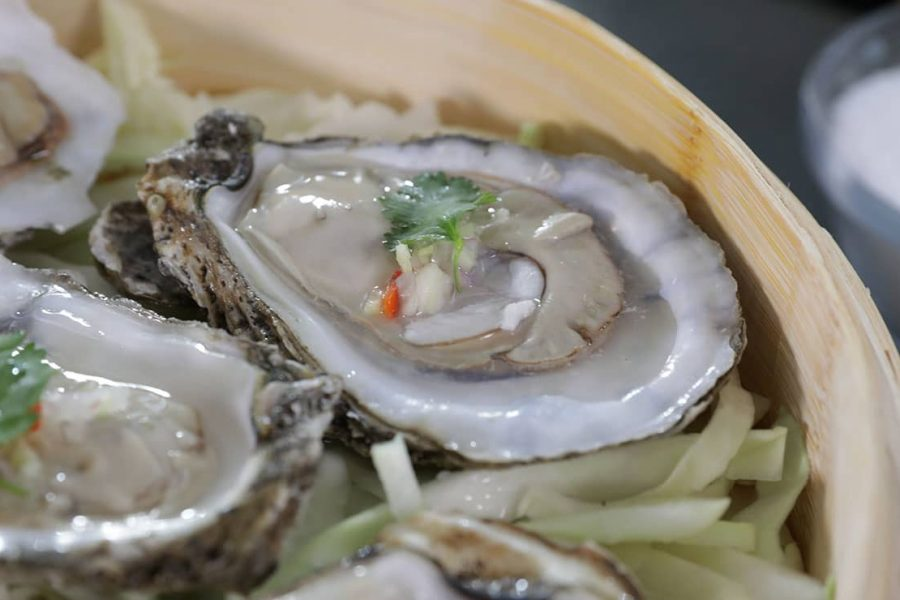 Simply Steamed East Coast Oysters with Hot Chiles