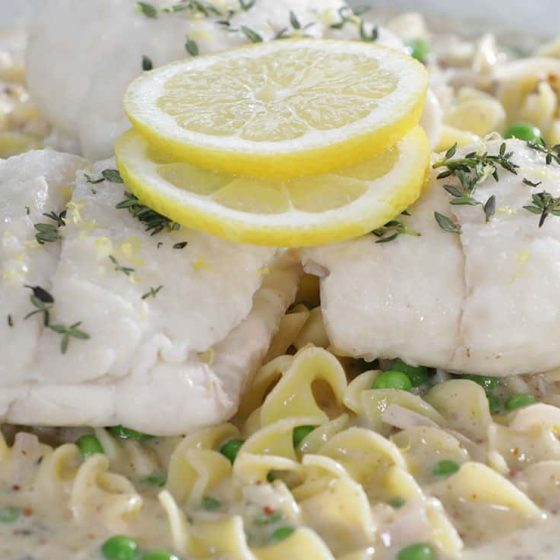 Summer Flounder with Mustard Butter Sauce